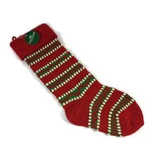 Kurt S Adler Heavy Yarn Knit Holiday Stocking NWT